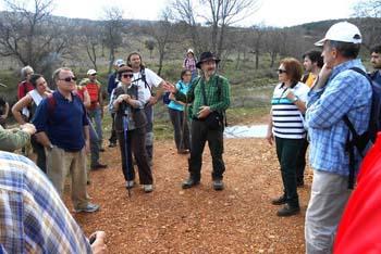 Vicente Luchena hablando con los participantes