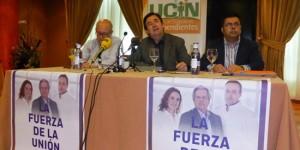 De izquierda a derecha, Ormeño, Montealegre y Flox