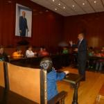 """Alumnado de 3º y 4º de Primaria del CEIP """"Divina Pastora"""" visita el Ayuntamiento de Manzanares"""