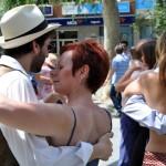 Malevaje Tango Ciudad Real despide su cuarto Encuentro nacional con una milonga en la Plaza del Pilar