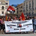 """Un día sin """"liberados"""": El anarcosindicalismo hace suyo el 1º de Mayo en Ciudad Real"""
