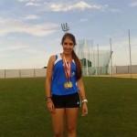 Almudena Montoya, campeona absoluta de Castilla-La Mancha en lanzamiento de martillo