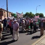 Medio millar de personas se manifiestan en Toledo para denunciar la inseguridad en el mundo de la montería