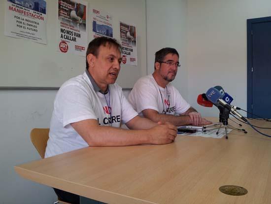Representantes de los trabajadores de Elcogas