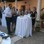 Mucho mejor con berenjenas y jamón: Los hosteleros celebran su patrona con una cata maridada