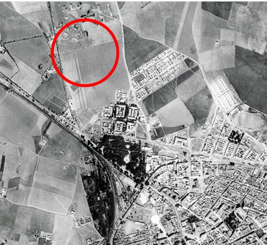 """""""La Granja"""" al Norte del plano en 1956"""