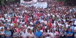 Manifestación en apoyo de Elcogas celebrada el pasado 10 de julio en Puertollano