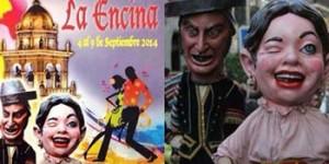 El cartel, y la foto de de los cabezudos ciudadrealeños realizada por Sofía Menéndez