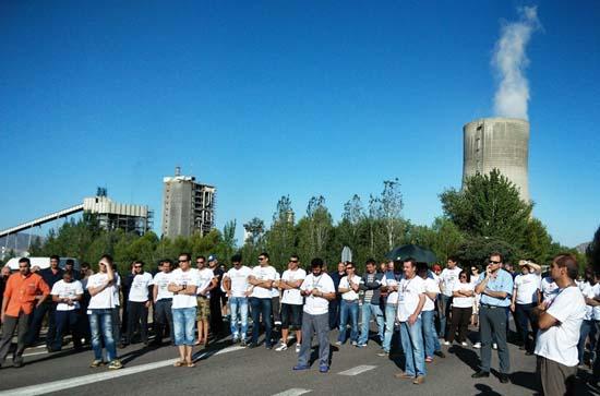 Pitada de trabajadores realizada el pasado 27 de agosto. Foto: José Fernando Buitrón Gijón