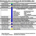 Puertollano: Programa de fiestas patronales 2014 en honor a la Virgen de Gracia