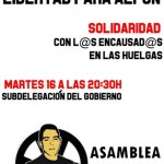 Ciudad Real: La Asamblea Popular convoca una concentración en solidaridad con Alfon y contra la criminalización de la protesta