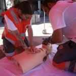 Ciudad Real: Cruz Roja da clases prácticas en la Plaza mayor de reanimación cardiopulmonar