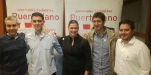 Ferrari (segundo por la izquierda), acompañado de Rafael Sánchez, Mayte Fernández, Caballero y Triguero, en un acto de JJSS Puertollano