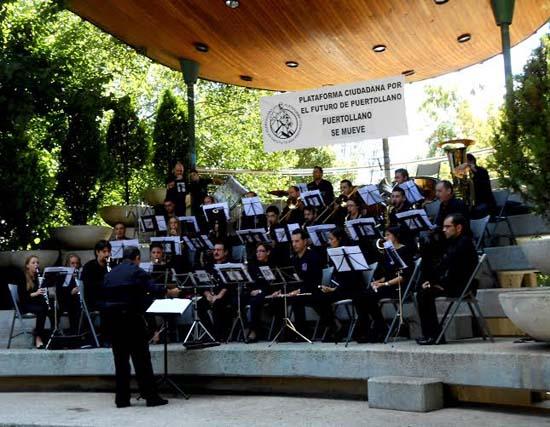 Un momento de la actuación llevada a cabo por la Asociación Banda de Música de Puertollano