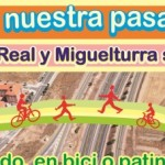 Ciudad Real en Bici y Miguelturra en Bici recogen firmas por la construcción de una pasarela ciclopeatonal sobre la A-43