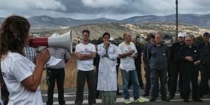 Pitada de los trabajadores de Elcogas. Foto: José Fernando Buitrón Gijón