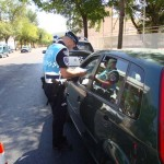 Puertollano: La Policía Local se sumó a la campaña de Tráfico de control del uso del cinturón