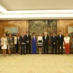 Un puertollanero en la Casa Real: Fran Tamaral es recibido por la Reina Letizia en agradecimiento a su trabajo por los más pequeños