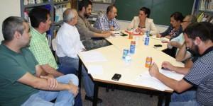 La Asociación de Las Mercedes, reunida con el anterior equipo de Gobierno (archivo)