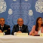 """Rosa Romero presume de ciudad """"segura"""" en los actos del patrón de la Policía Nacional"""