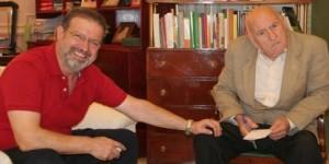 Adolfo Salvador (derecha), en una imagen de archivo junto a Nemesio de Lara,presidente de la Diputación de Ciudad Real