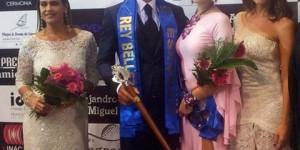 Antonio Jaime, acompañado de su reina. (Foto: Rey y Reina Belleza)