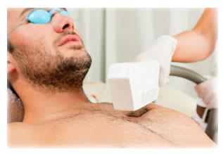 erección durante la depilación púbica