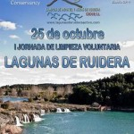 La I Jornada de Limpieza Voluntaria de las Lagunas de Ruidera se salda con la recogida de 1.300 kilos de basura