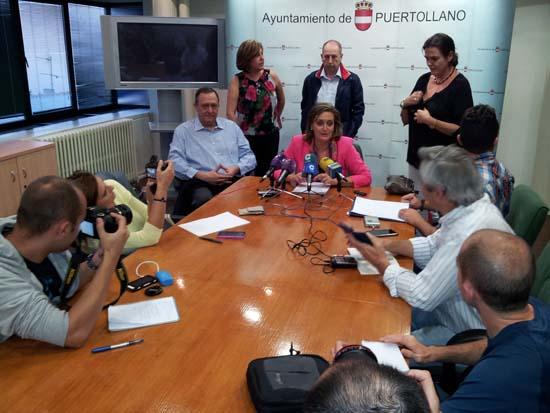 María José Ciudad, en rueda de prensa, hoy