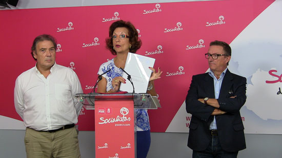 Emilio Villarino, Fátima Serrano y Alberto Lillo