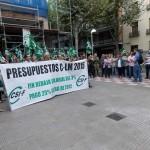 Ciudad Real: Unos 150 empleados públicos se concentran contra los recortes