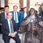 Malagón: Caja Rural CLM, en la inauguración de la escultura de Santa Teresa de Jesús