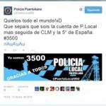 La cuenta de Twitter de la Policía Local de Puertollano se convierte en la quinta más seguida de España