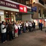 Inédito en Puertollano: Los policías locales protagonizan la primera manifestación que se recuerda frente a la Casa del Pueblo