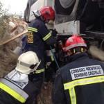 Fallece el conductor de un camión con base en Puertollano tras salirse de la calzada y volcar