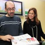 Rosa Romero apoya a ASPAS en la presentación de su calendario solidario