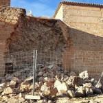 Se derrumba parte de la muralla del Castillo de Peñarroya en Argamasilla de Alba