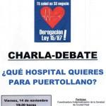 Charla-debate sobre la privatización de la Sanidad en Puertollano