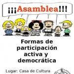 El modelo asambleario, a debate en una charla que organiza hoy la Plataforma por el futuro de Puertollano