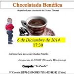 Puertollano: Chocolatada solidaria en favor de un niño que padece una rara enfermedad
