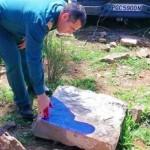 Almadén: Hallan una estela de guerrero de más de 3.000 años de antigüedad