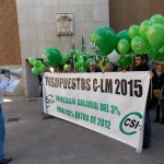 Ciudad Real: Cientos de globos para pedir a Cospedal el fin de la rebaja del 3 % y el pago de la extra 2012 a los empleados públicos