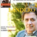 """Ciudad Real: Luis Landero presenta hoy su novela """"El balcón en invierno"""" en la librería Birdy"""