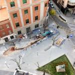 La Plaza Cervantes, de nuevo abierta en canal