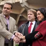 """Los precandidatos del PSOE se presentan como conjunto: """"A nosotros nos eligen, a Rosa Romero la ponen desde el PP"""""""