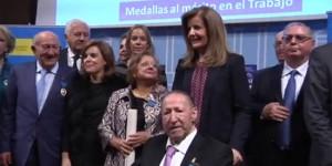 Rodero, hoy, junto a la ministra Báñez