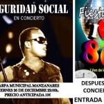 """Manzanares: """"Seguridad Social"""" actuará esta Navidad en la carpa municipal"""