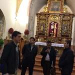 El director general de Cultura se interesa por el estado de la ermita del Cristo de la Columna
