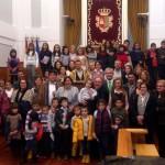 Escolares de Villamayor participan en el homenaje a la Constitución de las Cortes de Castilla-La Mancha