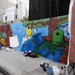 Finaliza el certamen de grafitis escolares «Ciulimpia»